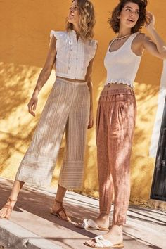 Striped Linen Joggers