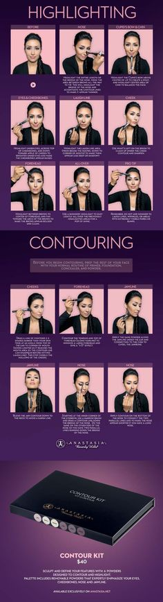 Beauty Ideas and Makeup Tips - Highlighting contouring how to