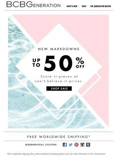 NEW (wait for it) MARKDOWNS - BCBGeneration Email Newsletter Design