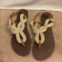 Shoes Flat braided sandals. Old Navy Shoes Sandals