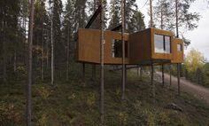 New for November: Treehotel Overview in Norrbotten County, Sweden Treehouse Hotel, Treehouse Ideas, Tiny House Exterior, Cool Tree Houses, Tiny Houses, Tree House Designs, Romantic Breaks, In The Tree, Drake
