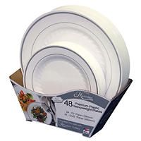 Look like china but plastic! Masterpiece Plate Large & Small Combo Pack - 48 ct. - Sam's Club