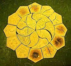 clay Islamic Calendar Stone