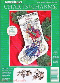 View album on Yandex. Cross Stitch Christmas Stockings, Cross Stitch Stocking, Christmas Stocking Kits, Cross Stitch Angels, Xmas Cross Stitch, Xmas Stockings, Christmas Cross, Cross Stitching, Cross Stitch Patterns