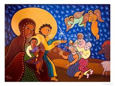 The Holy Family at Nativity, 2007 Giclee Print by Laura James at Art.com