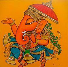 Saree Painting, Kerala Mural Painting, Kalamkari Painting, Madhubani Painting, Buddha Painting, Pichwai Paintings, Indian Art Paintings, Lord Ganesha Paintings, Ganesha Art