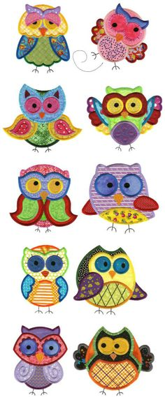 OregonPatchWorks.com - Sets - Jumbo A Hoot and a Half Applique Set 2