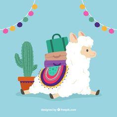 Discover thousands of free-copyright vectors on Freepik Alpacas, Llamas Animal, Alpaca Drawing, Llama Arts, Cute Alpaca, Llama Birthday, Jolie Photo, Cute Drawings, Sloth