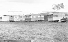 Bluebird Magnet, a Willerby, Bluebird Penthouse or Sabrina, Bluebird Pathfinder at Brean, Sunnyside Caravan Site from Francis Frith Vintage Caravans, Vintage Travel Trailers, Caravan Pictures, Caravan Sites, Bluebirds, Classic Trucks, Airstream, Back In The Day, Motorhome