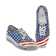 4th of July Shoes  ~ Dressing for any holiday is always fun, but these 4th of July shoes are truly a blast to wear!