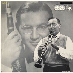 """Benny Goodman (1909-1986) was considered """"king of swing"""" and ushered in the big band era, being the first to integrate the jazz groups in 1935. He was the first jazz bandleader to perform in Carnegie Hall (1938) and it was labeled as most significant in jazz history as it showcased the band member's & guest singers' talents. Noted for St. Louis Blues, In The Mood, I Got Rhythm, One O'clock Stomp, Sing, Sing, Sing most noted song."""