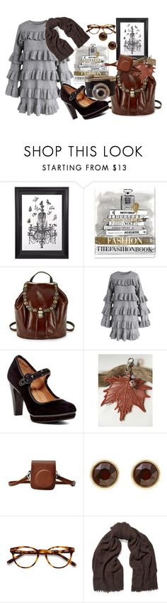 """un po ' di cioccolato"" by svcat88 ❤ liked on Polyvore featuring Oliver Gal Artist Co., Patricia Nash, Chicwish, Söfft, Karen Millen, EyeBuyDirect.com and Rick Owens"