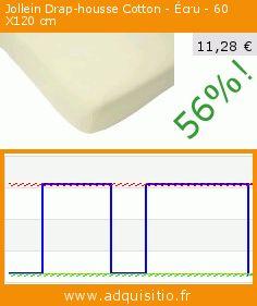 Jollein Drap-housse Cotton - Écru - 60 X120 cm (Puériculture). Réduction de 56%! Prix actuel 11,28 €, l'ancien prix était de 25,59 €. https://www.adquisitio.fr/jollein/drap-housse-cotton-%C3%A9cru-2