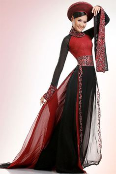 Vietnamese aao dai (long dress)...My traditional dress! love it!