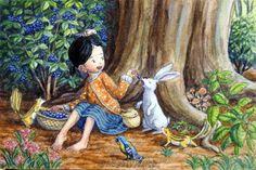 Blueberry Forest, Watercolor Acrylic by Shinya Okayama.