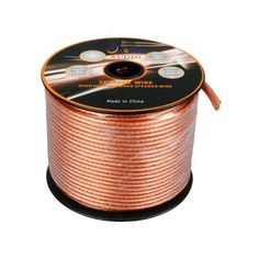 50 Ft 16-Guage WATERPROOF, Transparent + RED CL2 APPROVED PVC Speaker Wire w/Foot Markings every 5 Ft by Aurum CablesTM. $34.99. 50 foot, 16-Gauge Outdoor / direct burial speaker Wire - transparent PVC. Connects speakers to your A/V receiver or amplifier.  WATERPROOF CL2 APPROVED