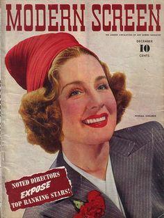 Modern Screen Magazine with Norma Shearer 1940