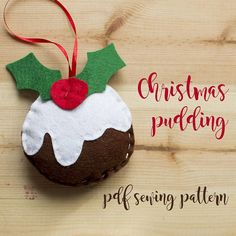 Items similar to Christmas pudding- PDF sewing pattern, felt pudding ornament, Christmas ornament, softie on Etsy Christmas Crafts, Christmas Ornaments, Christmas Pudding, Pdf Sewing Patterns, Softies, Kids And Parenting, Hand Stitching, Make Your Own, Give It To Me