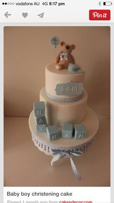 Boy christening cake Baby Boy Christening Cake, Cakes For Boys, Children, Kids, Kid, Kids Part, Little Children, Infant