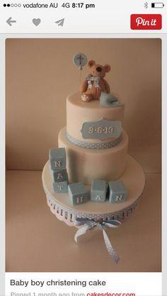 Boy christening cake Baby Boy Christening Cake, Cakes For Boys