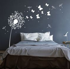 Rauhfaser suitable Breathe life into their walls … with this wall sticker Dandelion butterflies and dots they enchant entire rooms … * Wall decal Dandelion with sweet … Source by