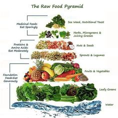 the raw food pyramid #plantbased