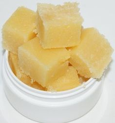 Handmade Pina Colada Scented Solid Sugar Cube Scrub. The convenience of a sugar scrub in a solid cube for less mess in the tub!