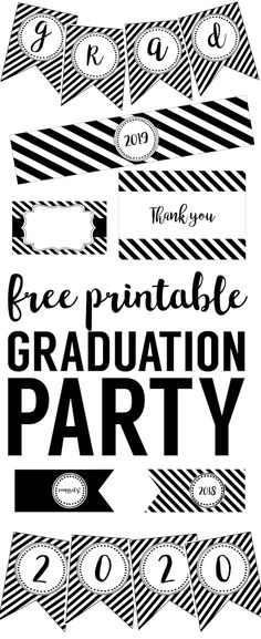 Free Class of 2017 Graduation Printables by Lil' Sprout