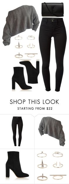 """Untitled #1197"" by thelovelybry ❤ liked on Polyvore featuring J Brand, Gianvito Rossi, Topshop and Yves Saint Laurent"