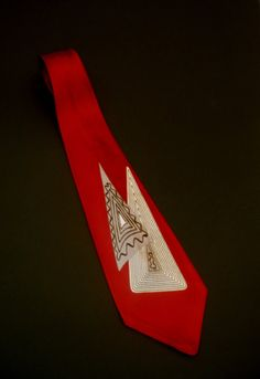 TOWNCRAFT DeLuxe Vintage RED Tie 1940 Swing by FeverVintage