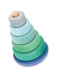 Grimm's Spiel und Holz Design 11012 Scheibenturm - Steh auf blau