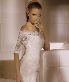Fashion Off-the-shoulder white/ivory lace Embroidery Ball Gown/wedding Dessees