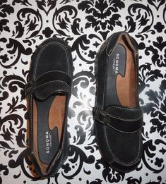 Comfort Shoes Have An Inquiring Mind Born Casual Black Leather Slip-on Loafer Shoes Womens Size 6 In Euc