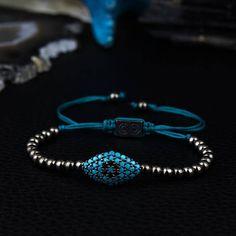 925 Sterling Silver Gunmetal Unisex Evil Eye Jewelry