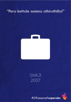 A minimalist tribute to 39 years of the world's biggest Superstar, Rajinikanth.