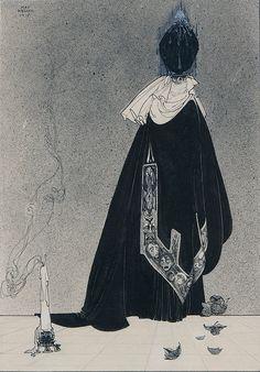 Le Mort Joyeux (Illustrations by Danish artist Kay Nielsen for his. Kay Nielsen, Botanical Illustration, Illustration Art, Book Illustrations, Art Nouveau, Art Deco, Fairytale Art, Black And White Drawing, Comic Styles