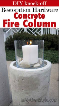 How to make a concrete candle holder for backyard lighting