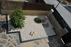 contemporary rock garden