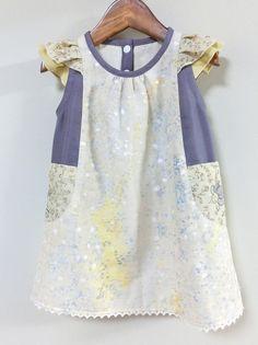 (90)霧光のフリルワンピ - handmade shop [KZ] by KeiZon ★ ちょっぴりオシャレなハンドメイド子供服