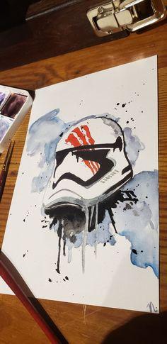 star wars stormtrooper painting finn on Mercari