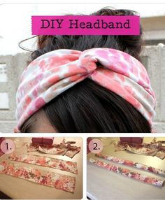 DIY Tutorial: How To Make Your Own Headband - Click the image for the Tutorial! How To Make Headbands Fabric Crafts, Sewing Crafts, Sewing Projects, Diy Crafts, Party Crafts, Diy Headband, Headbands, Tutorial Diy, Learn To Sew