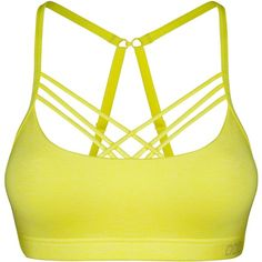 Lorna Jane Mind And Body Sports Bra ($63) ❤ liked on Polyvore featuring activewear, sports bras, women, yellow, long sports bra, lorna jane, lorna jane sports bra, strappy sports bra and lorna jane activewear