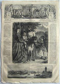 """Représentation de la famille impériale, François-Joseph, Elisabeth, Gisèle et Rodolphe dans le journal """"Le nouvel illustré"""""""