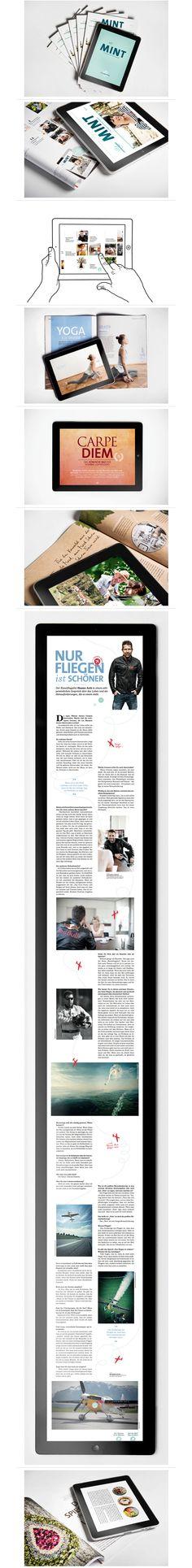 MINT iPad Magazine by moodley brand identity http://www.moodley.at/en/portfolio/digital/mint-fuers-ipad.html