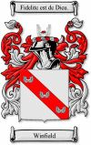 Winfield Coat of Arms / Winfield Family Crest - www.4crests.com #coatofarms #familycrest #familycrests #coatsofarms #heraldry #family #genealogy #familyreunion #names #history #medieval #codeofarms #familyshield #shield #crest #clan #badge #geneology #tattoo #ancestry