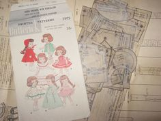 ORIGINAL Doll Clothes PATTERNS 7972 for 7-8 inch Ginny Wendy Muffie by Vogue