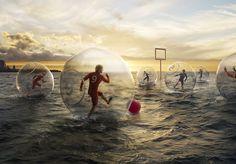 Beach soccer maybe?