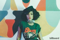 Janelle Monáe in David Bowie tee for a 2016 Billboard photo shoot. Pretty People, Beautiful People, Hidden Figures, Look 2018, Cultura Pop, Christina Aguilera, Mode Inspiration, Black Girl Magic, Black Girls