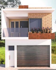 107 popular contemporary exterior house design ideas -page 6 Simple House Design, House Front Design, Minimalist House Design, Minimalist Home, Modern House Design, Home Building Design, Building A House, 2 Storey House Design, Home Temple