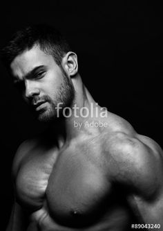 "Download the royalty-free photo ""Muscled male model in studio"" created by Andrei vishnyakov at the lowest price on Fotolia.com. Browse our cheap image bank online to find the perfect stock photo for your marketing projects!"